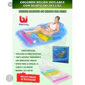 Colchon Flotador Inflable Con Respaldar Marca Bestway