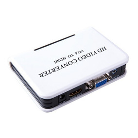 Áudio Vga Para Hdmi Hd Hdtv Video Converter Box Adaptador