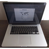 Macbook Pro Retina Me665ll/a 15.4 8gb Ram 512gb I7 Plateada