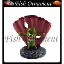 Enfeite Resina Aquario Bob Esponja Plancton Fish Ornament