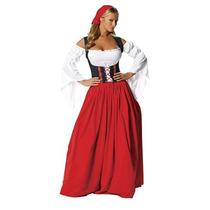 Disfraz Hombre Traje De Roma De 4 Piezas De Swiss Miss, Roj