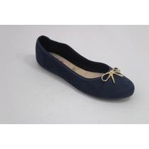 Moleca Azul Sapatilha Lacinho Metal 0123 - Promocao