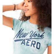 Camiseta Feminina Aero New York Verde-mescla Orig. Eua