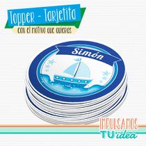Cumple Marinero - Topper Fiesta Marinero Para Imprimir