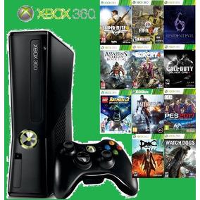 Videogame Xbox 360 Slim + Hd 1 Tb Com 150 Jogos + Skin