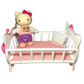 Boneca Hello Kitty Hora Nanar Bercinho Berço - Baby Brink