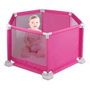 Cercado Para Bebê Proteção Conforto Segurança Braskit Rosa