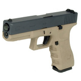Pistola Airsoft Glock G17 Bitono We 6mm Green Gas Blowback