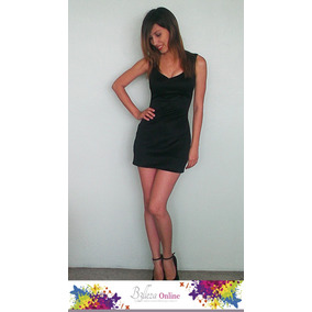 Vestido Negro Elegante Corto Talla S