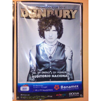 Enrique Bunbury Tour Palo Santo Lona Con Fechas Df. Unica