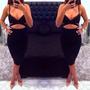 Vestido Negro Escotado Sexy Summer Bandage Slim Bodycon Even