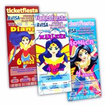 Diseño De Invitaciones Imprimibles Mujer Maravilla