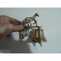 Campana Con Soporte De Bronce Llamador Antiguo