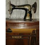Máquina Costura Singer Pedal Raridade Antiga