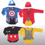 Body Disfraz Bebé Superhéroe Spider Capitan Mickey Minion