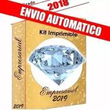 Kit Imprimible Empresarial Calendario 2019 30gb Unicornios