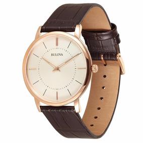 Relógio Bulova Masculino Slim Rose - Wb22436x + Nfe