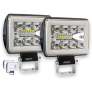Par Faro Dually 16 Led Fijo Estrobo Aro Gel Cob Colores