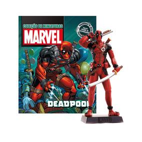 Deadpool Miniatura Marvel Lacrado Com Revista Em Pt(br)