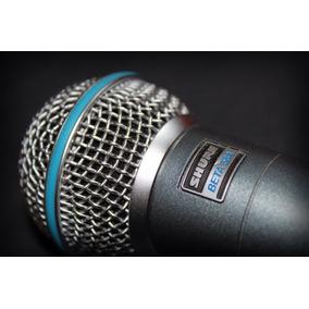 Microfone Com Fio Betta Sm 58 + Cabo Florzinha