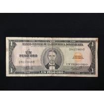 Billete Un Peso Oro Republica Dominicana 1976 Raro Ltb8
