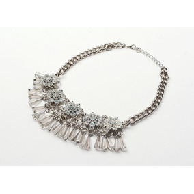 Collar Piedras Plateado - Mujer - La Merceria