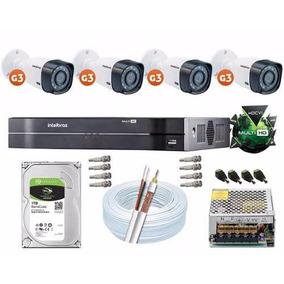Kit Cftv 4 Câmeras Multi Hd 720p Dvr 8 Canais Intelbras 1008