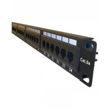 Patch Panel 24 Portas Cat5e Amp Semi-novo (funcionando 100%)