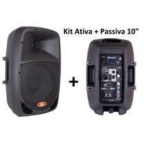 Caixa Som Ativa + Caixa Passiva 120w Rms Bluetooth Dr10