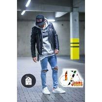 Kit 2calças Jeans Premium Destoyed Skinny E Cueca Ck Brinde