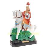Imagem Ogum Mege Estatua Soldado Romano A Cavalo 60cm Gesso