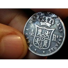 Moneda De Plata 1861 Reina Isabel Segunda Por La G 4 Reales