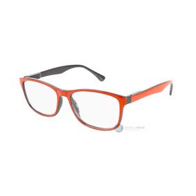 Armação Óculos De Grau Feminino Masculino Vermelho Acetato