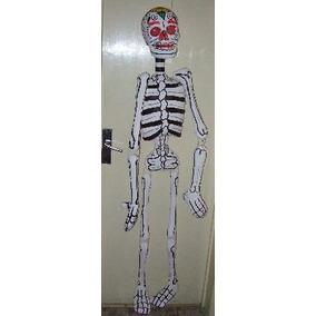 Esqueleto 1.50 Alto Papel Mache Dia Muertos Ofrendas C Envio