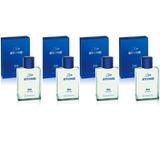 Perfumes Hombre Stone Blue, Terra, Silver 100ml X 4 Unidades