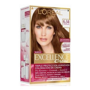 Kit Tintura Excellence Creme Loreal Color 6.34 Chocolate