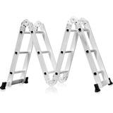 Escada Multifuncional 4x3 Em Alumínio Com 12 Degraus Fortgp