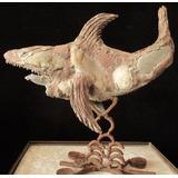 Escultura En Piedra , Fierro Y Cemento Tiburon