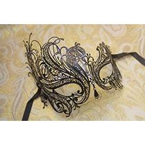 Disfraz Vintage Veneciana Cisne Negro Laser Cut Máscara De