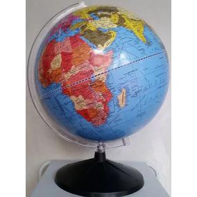 Globo Terrestre Escolar Político Giratório + Mapa Mundi