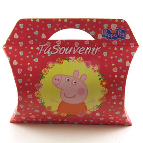 Caja Cajita De Carton Peppa Pig Souvenirs Infantil Peppa