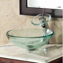 Cuba De Vidro Para Banheiro Redonda 30x30x11