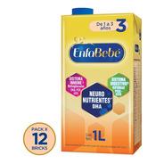 Leche Enfabebe 3 Premium (+1 Año) 1lt X 12 Unidades