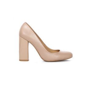 Trender Zapato De Tacon Cuadrado Color Nude 9920059