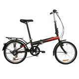 Bicicleta Dtfly City Plegable Shimano 6 Speed Negro/rojo