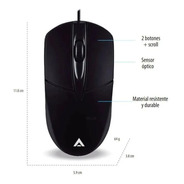 Mouse Acteck Usb Negro Entry 100