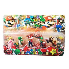 Muñeco Set Figuras Mario Bros 5 Personajes Juguetes Niño
