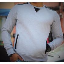 Playera Sudadera Color Gris- Peaceful Clothing Co.