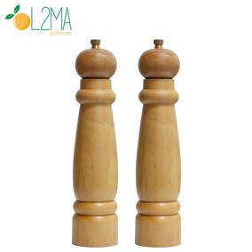 2un Moedor De Pimenta E Sal Grosso Madeira Cerâmica 21cm
