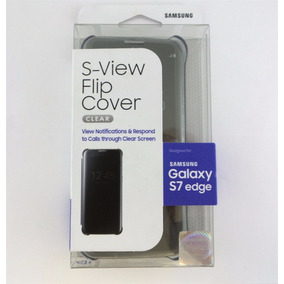 Samsung Galaxy S7 Edge S-view Flip Cover Clear - Negro